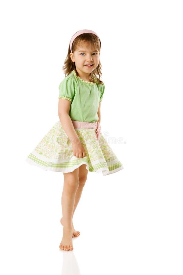 Het vrolijke meisje dansen royalty-vrije stock foto's