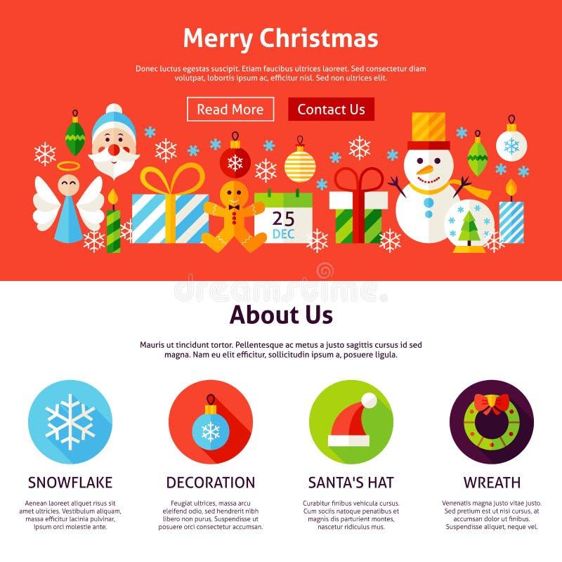Het vrolijke Ontwerp van het Kerstmisweb vector illustratie