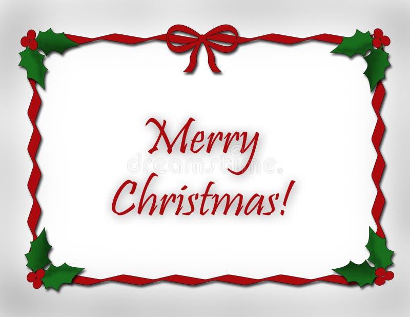 Het vrolijke Ontwerp van het Lint van Kerstmis vector illustratie