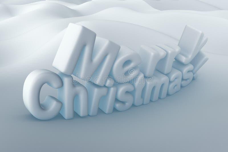 Het vrolijke snowbal effect van de Kerstmis 3D tekst vector illustratie
