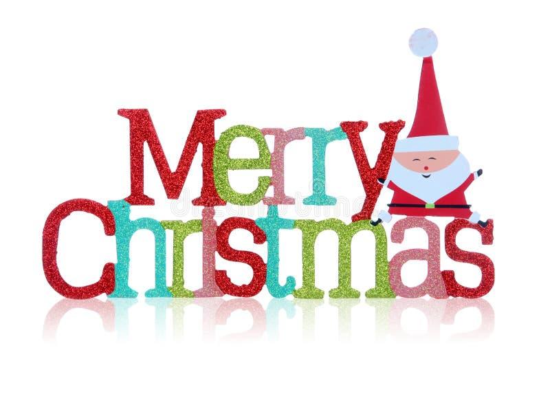 Het vrolijke Teken van Kerstmis stock foto