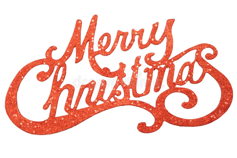 Het vrolijke teken van Kerstmis royalty-vrije stock fotografie