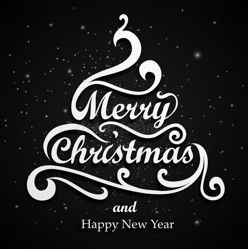 Het vrolijke Type van Kerstmis stock illustratie