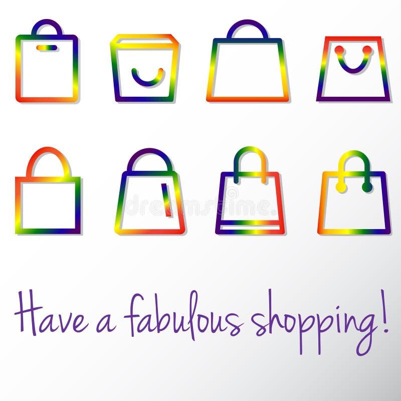 Het vrolijke winkelen stock illustratie