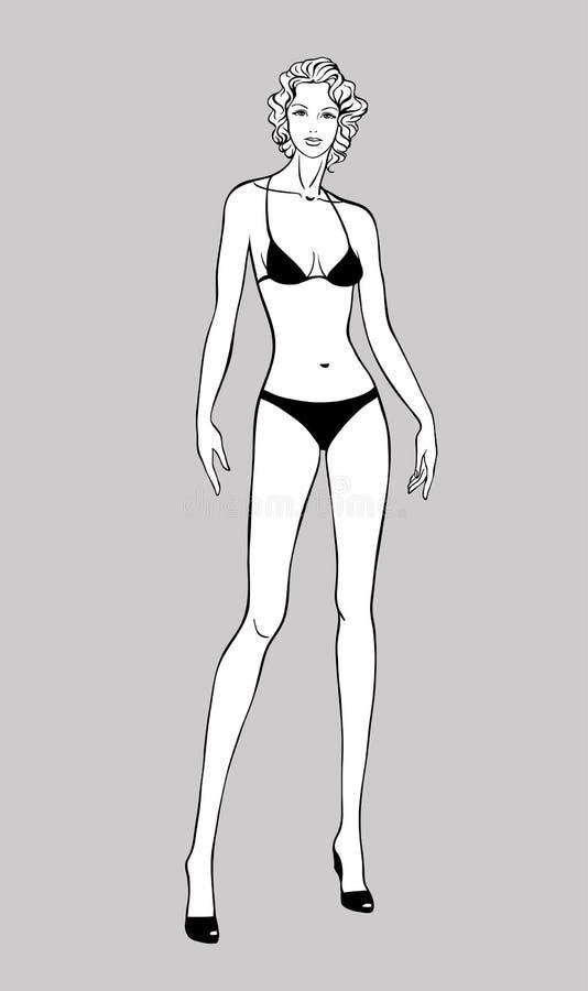 Het vrouwelijke Beeldje van de Manier royalty-vrije illustratie