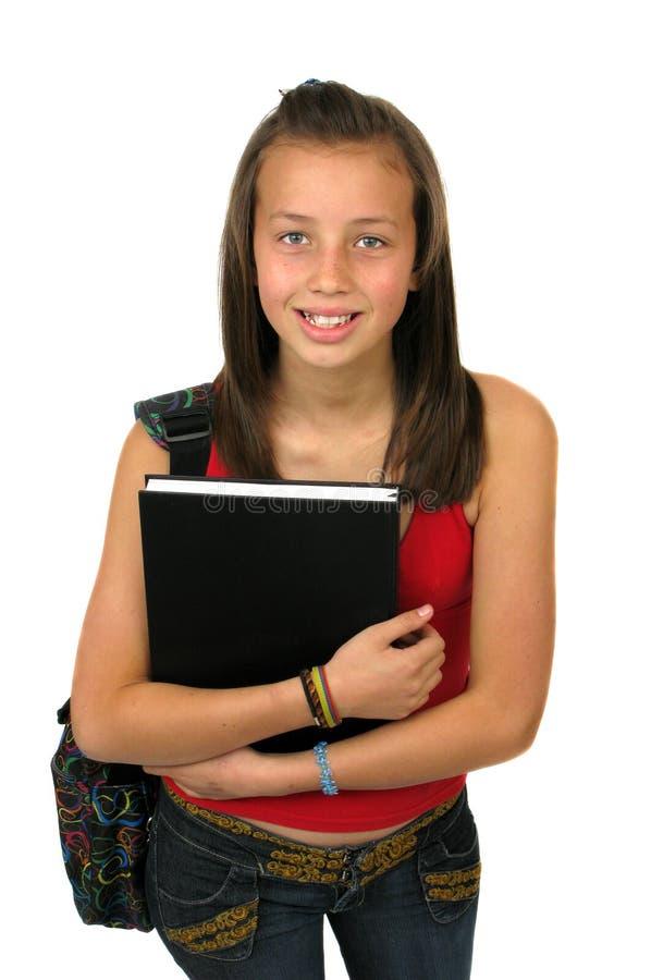 Het vrouwelijke Glimlachen van de Student stock foto