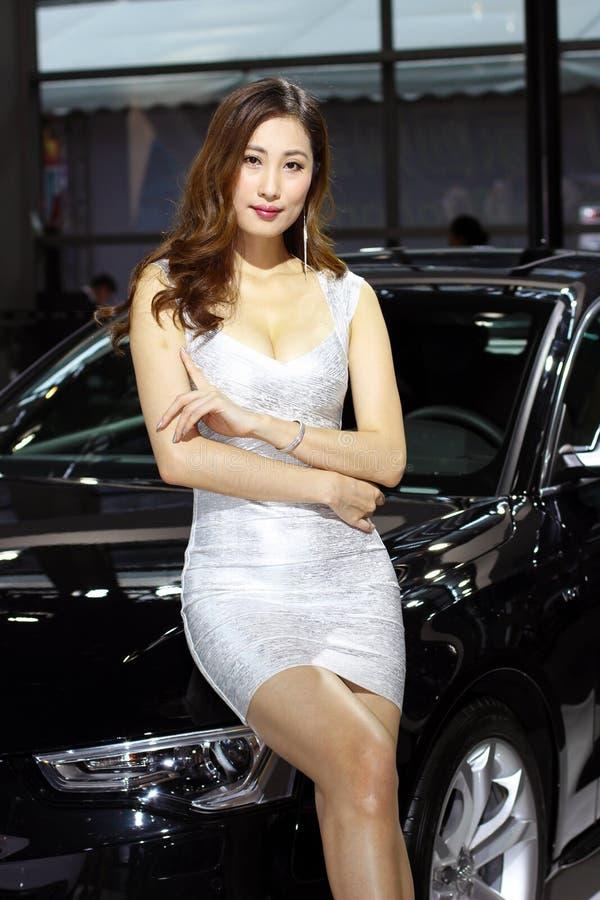 Het vrouwelijke model royalty-vrije stock fotografie