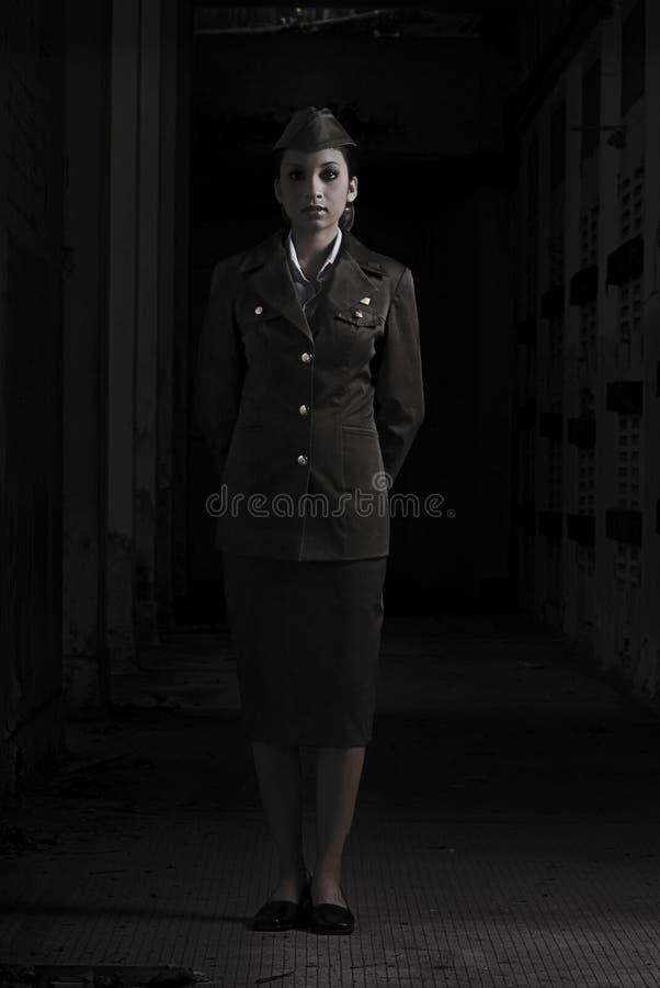 Het vrouwelijke Personeel van het Leger stock afbeelding