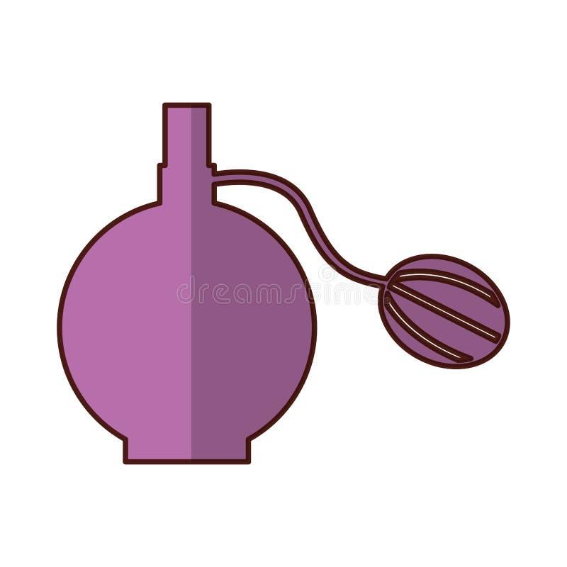 het vrouwelijke pictogram van de lotionfles royalty-vrije illustratie