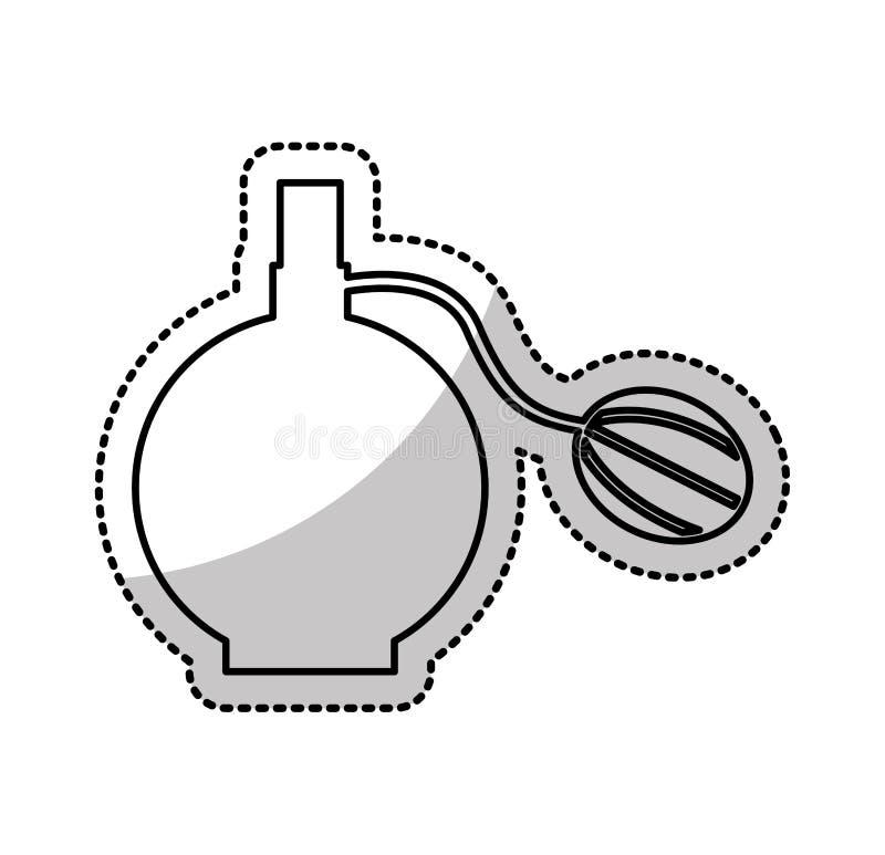 het vrouwelijke pictogram van de lotionfles stock illustratie