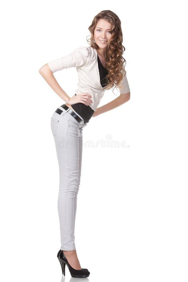 Het vrouwelijke stellen stock foto