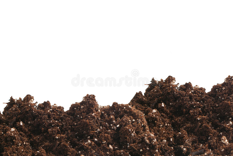Het vuil van de tuin stock afbeelding