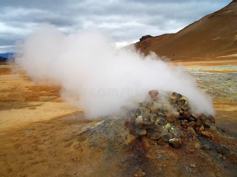 Het vulkanische gebied van Krafla stock fotografie