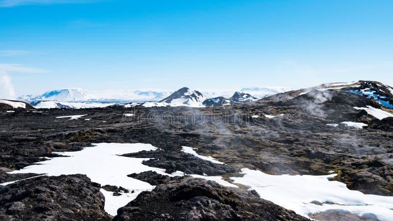 Het vulkanische gebied van Krafla, IJsland royalty-vrije stock afbeeldingen
