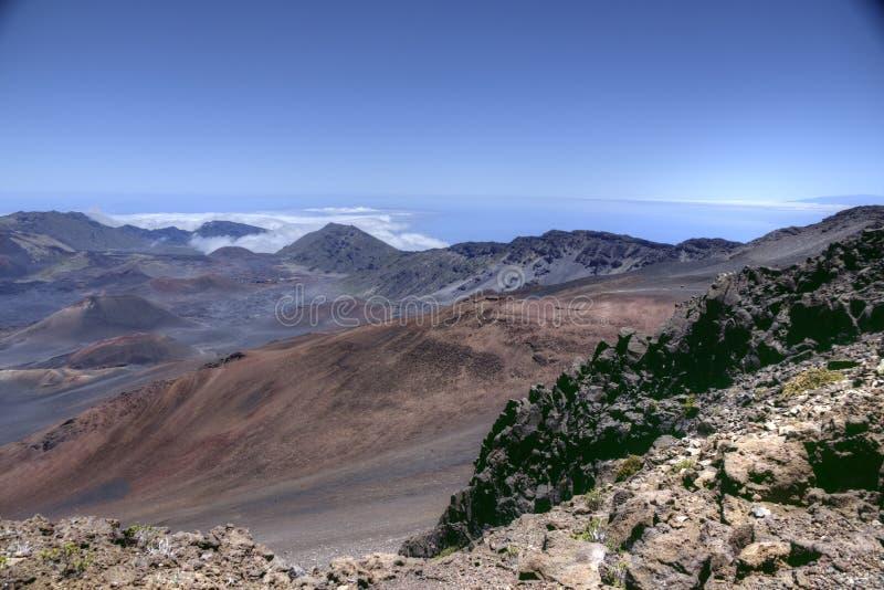 """Het vulkanische landschap van Haleakalà """"in Maui, Hawaï stock foto"""