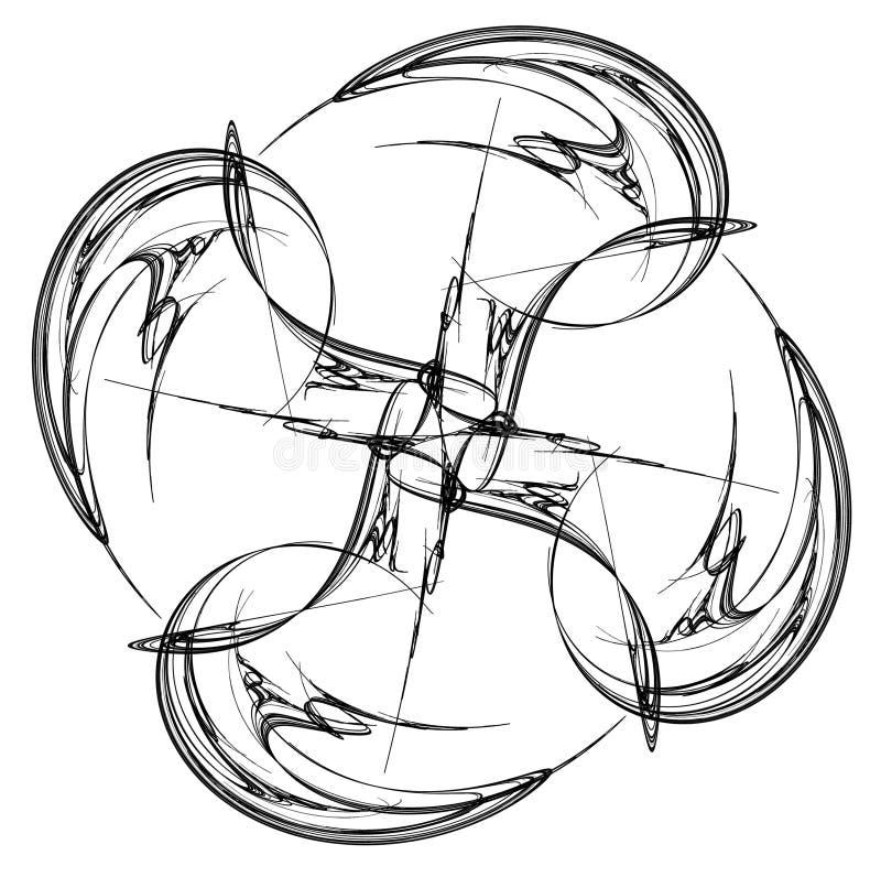 Het Vuurrad van de inktvierling vector illustratie