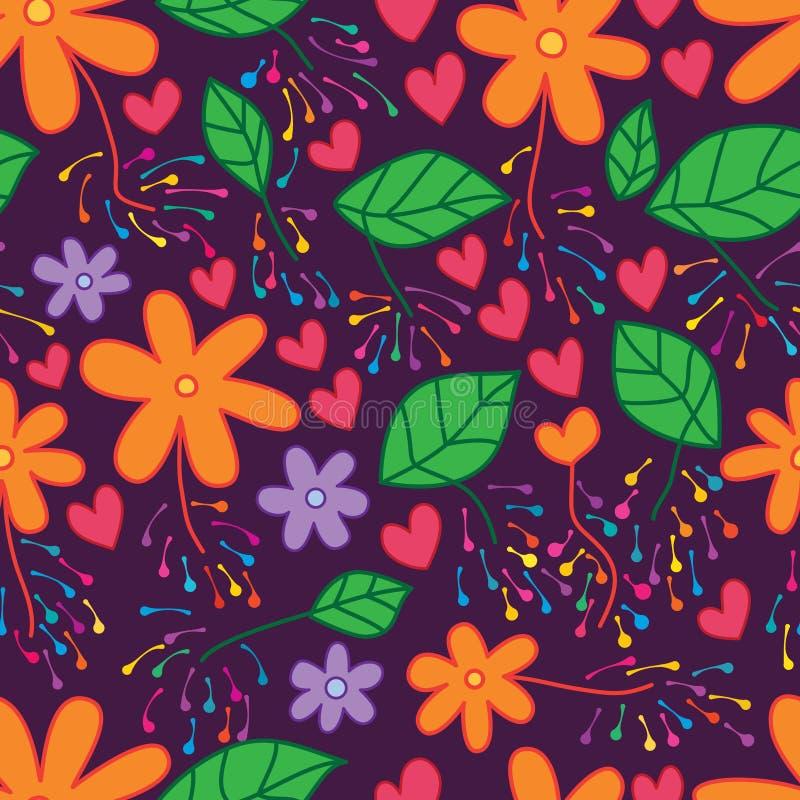 Het vuurwerk naadloos patroon van het bloemblad vector illustratie