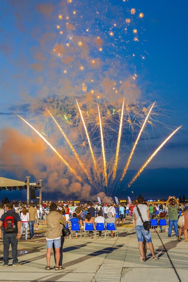 Het vuurwerk toont royalty-vrije stock foto's