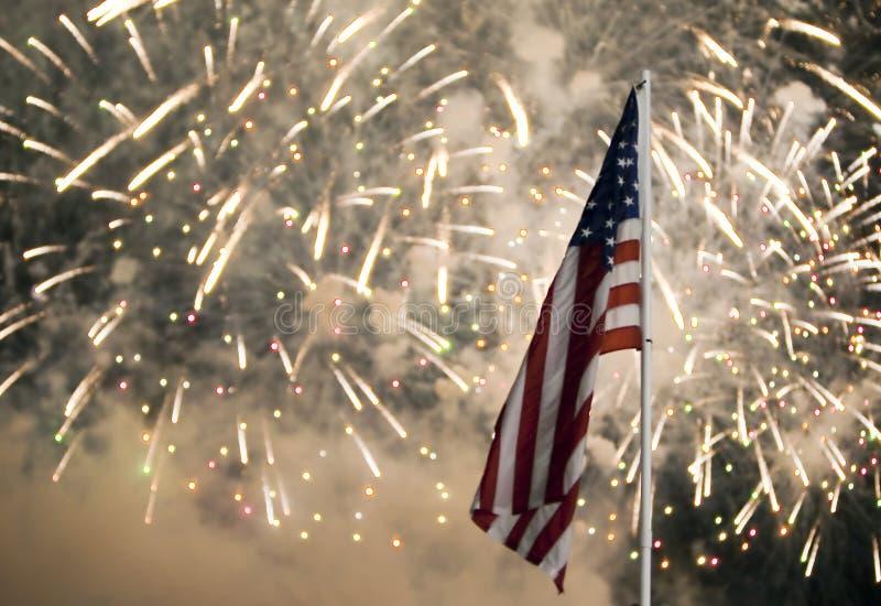 Het Vuurwerk van de Dag van de onafhankelijkheid stock afbeelding