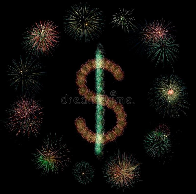 Download Het vuurwerk van de dollar stock foto. Afbeelding bestaande uit explosie - 10782440