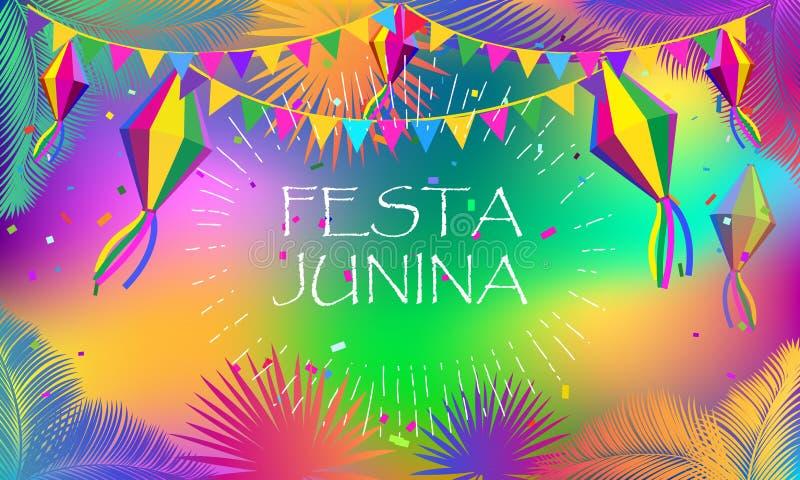 Het vuurwerk van het de Zomerfestival van Carnaval Festa Junina royalty-vrije illustratie
