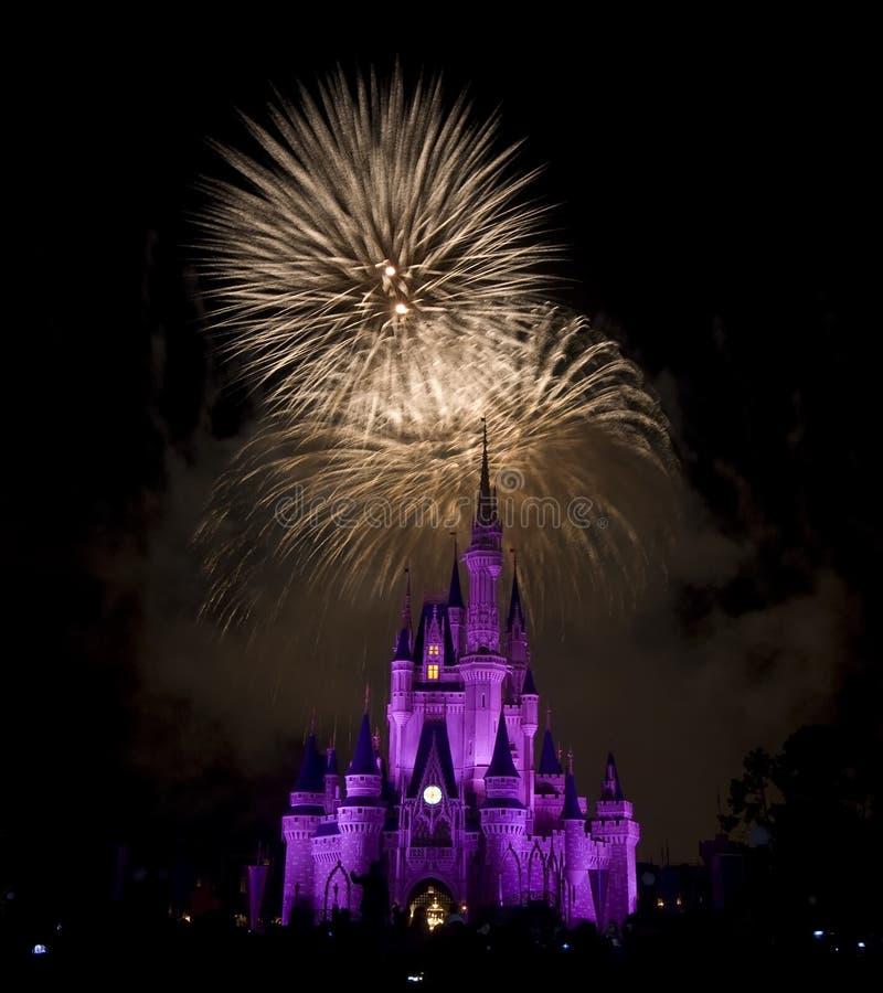 Het Vuurwerk van Disney `s stock foto