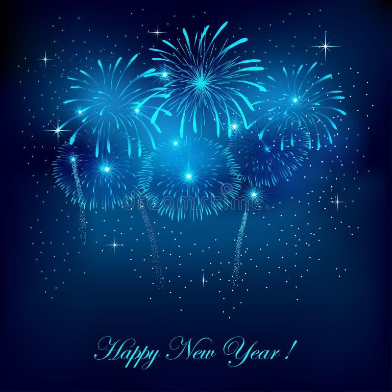 Het vuurwerk van het nieuwjaar stock illustratie