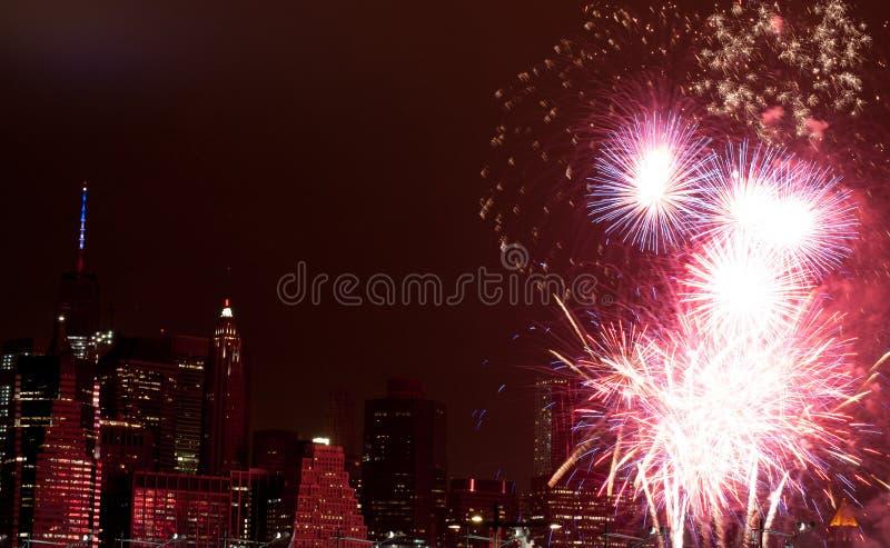 4 het vuurwerk van juli royalty-vrije stock foto's
