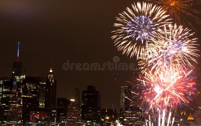 4 het vuurwerk van juli royalty-vrije stock afbeeldingen