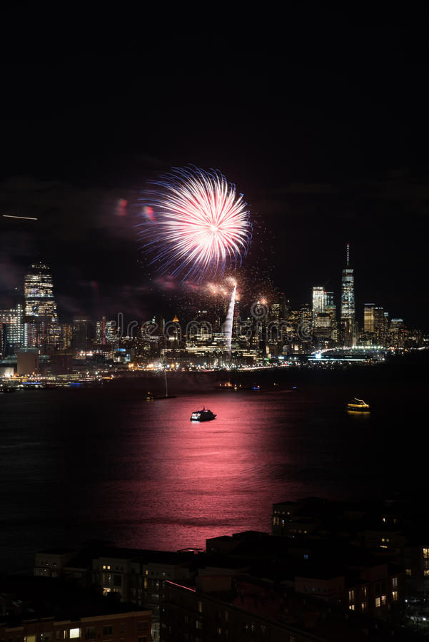Het vuurwerk van New York stock foto's