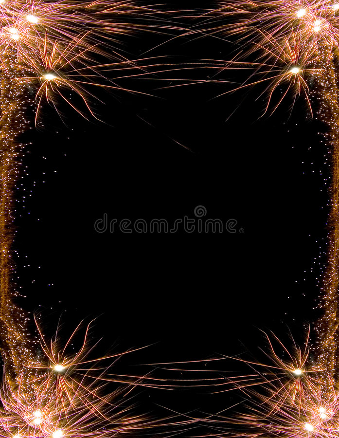 Het vuurwerkframe van de viering stock afbeelding