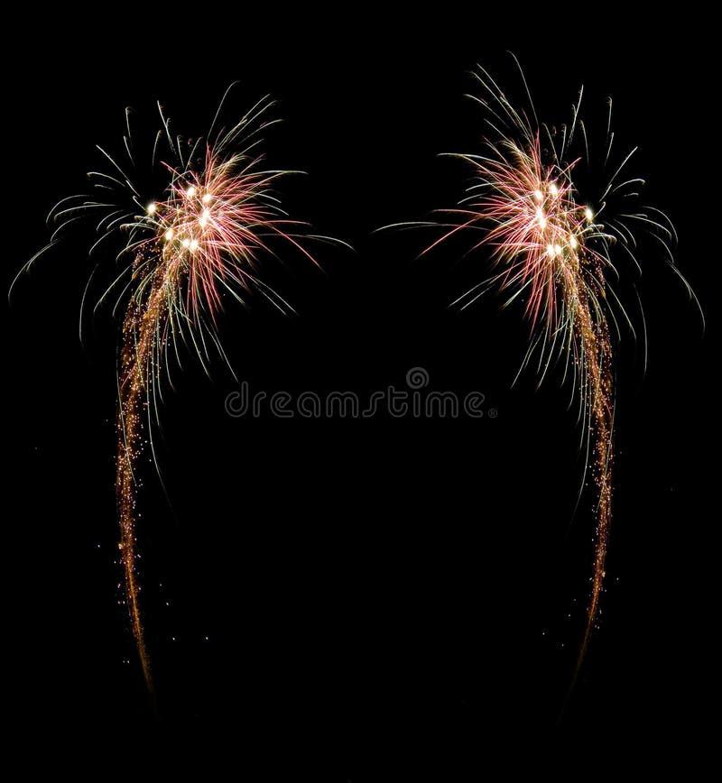 Het vuurwerkframe van de viering stock foto