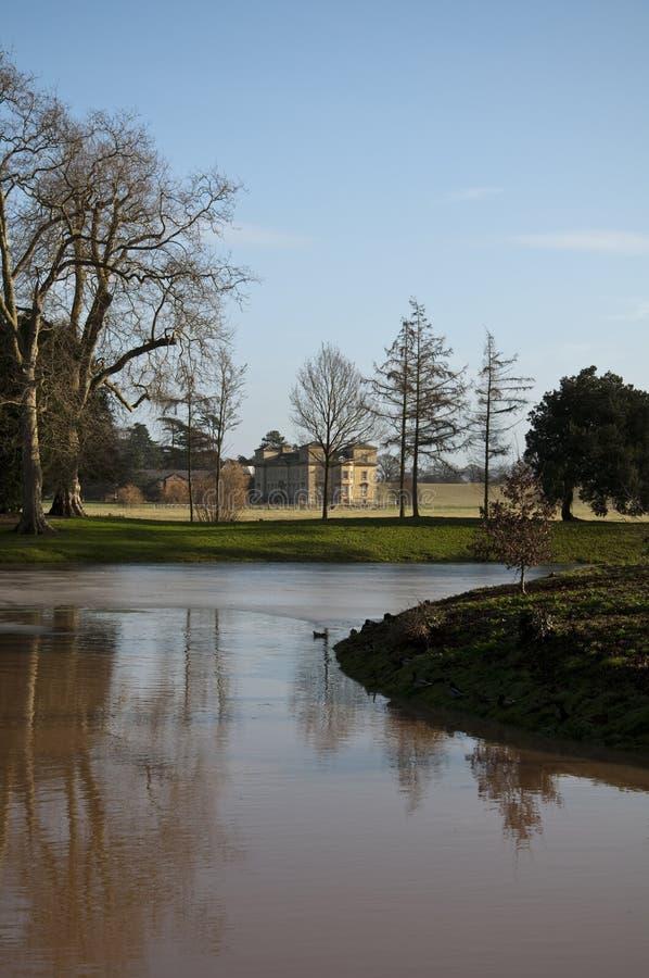 Het waardige huis van het Hof van Croome royalty-vrije stock foto