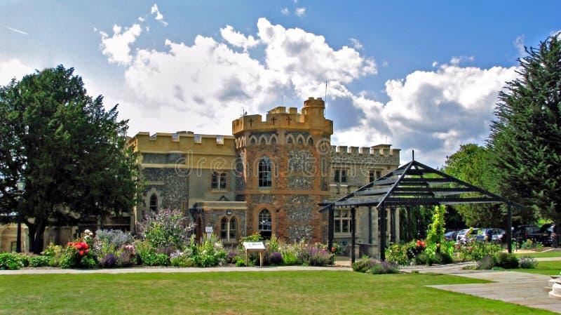 Het waardige huis van het kasteel royalty-vrije stock foto