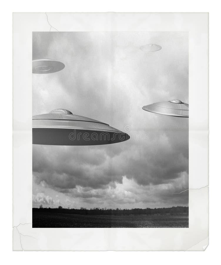 Het Waarnemen van het UFO vector illustratie