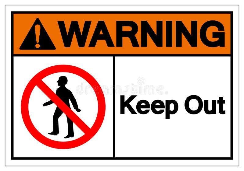 Het waarschuwen houdt Symboolteken, Vectorillustratie weg, isoleert op Wit Etiket Als achtergrond EPS10 royalty-vrije illustratie