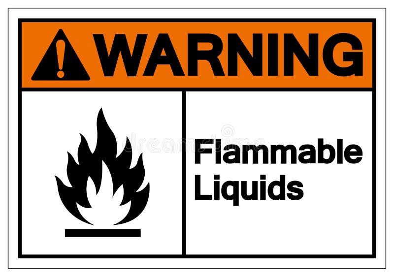 Het waarschuwende Brandbare Teken van het Vloeistoffensymbool, Vectorillustratie, isoleert op Wit Etiket Als achtergrond EPS10 royalty-vrije illustratie