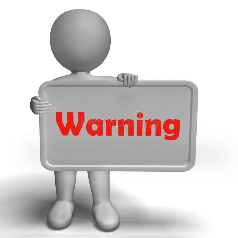 Het waarschuwingsbord toont Gevaarlijk en is Zorgvuldig royalty-vrije illustratie