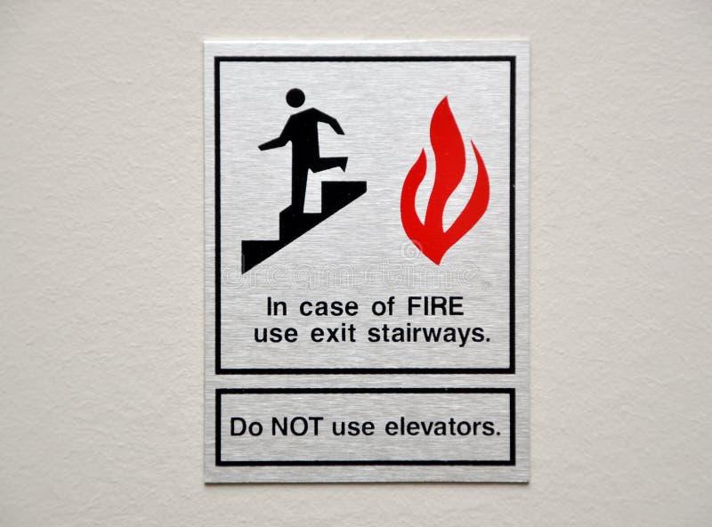 Het waarschuwingssein van de brand stock fotografie