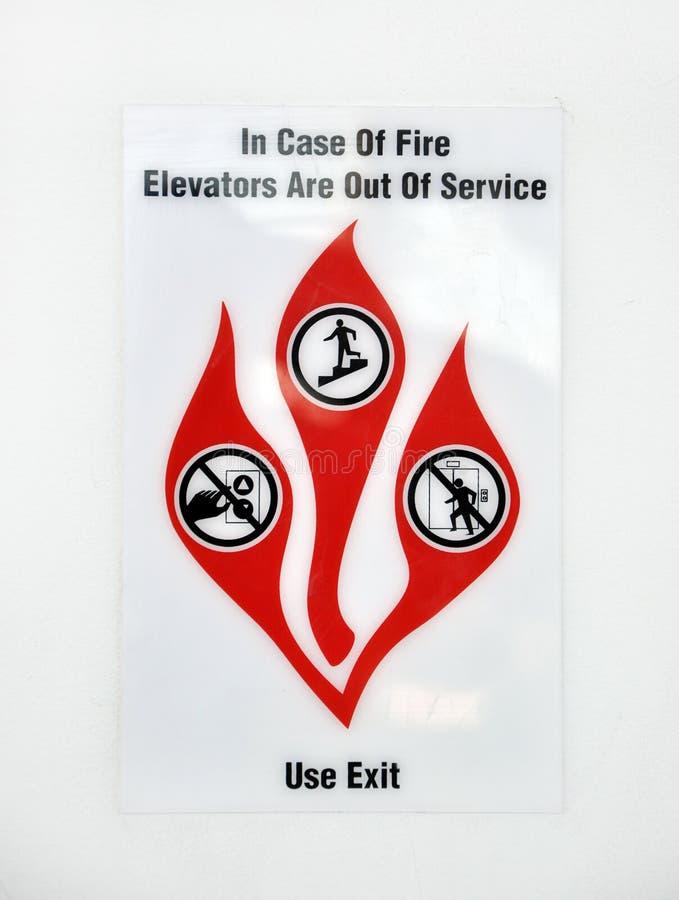 Het waarschuwingssein van de brand stock foto's