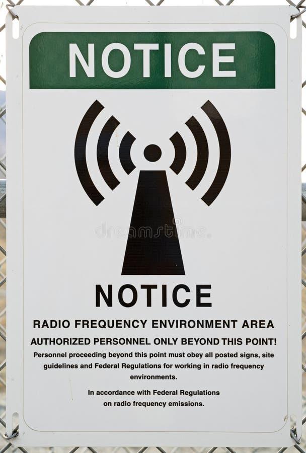 Het waarschuwingssein van de radiofrequentie stock foto