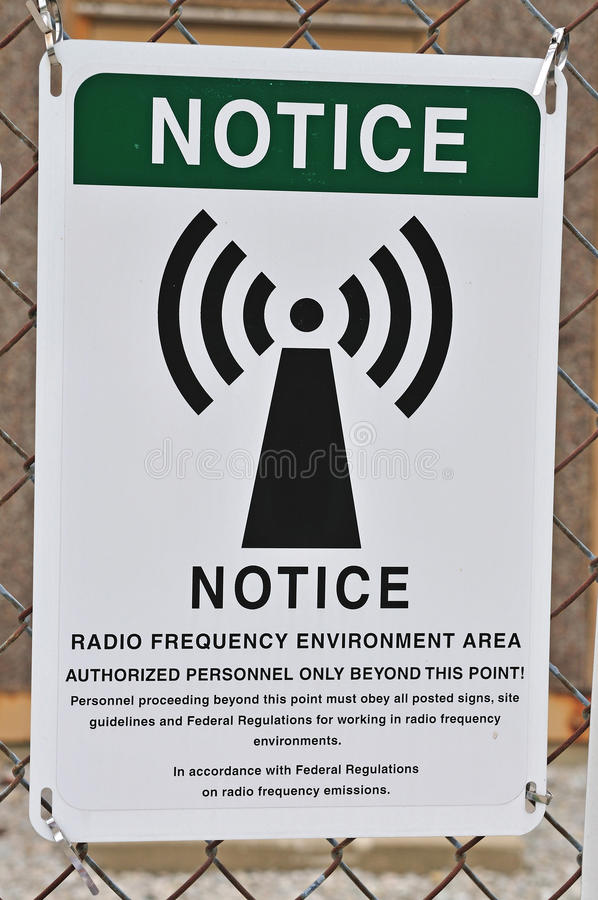 Het waarschuwingssein van de radiofrequentie royalty-vrije stock foto
