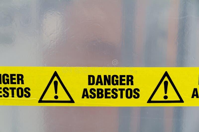 Het waarschuwingssein van het asbest royalty-vrije stock afbeeldingen