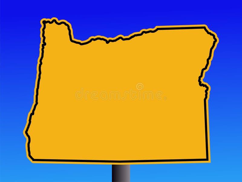 Het waarschuwingssein van Oregon vector illustratie