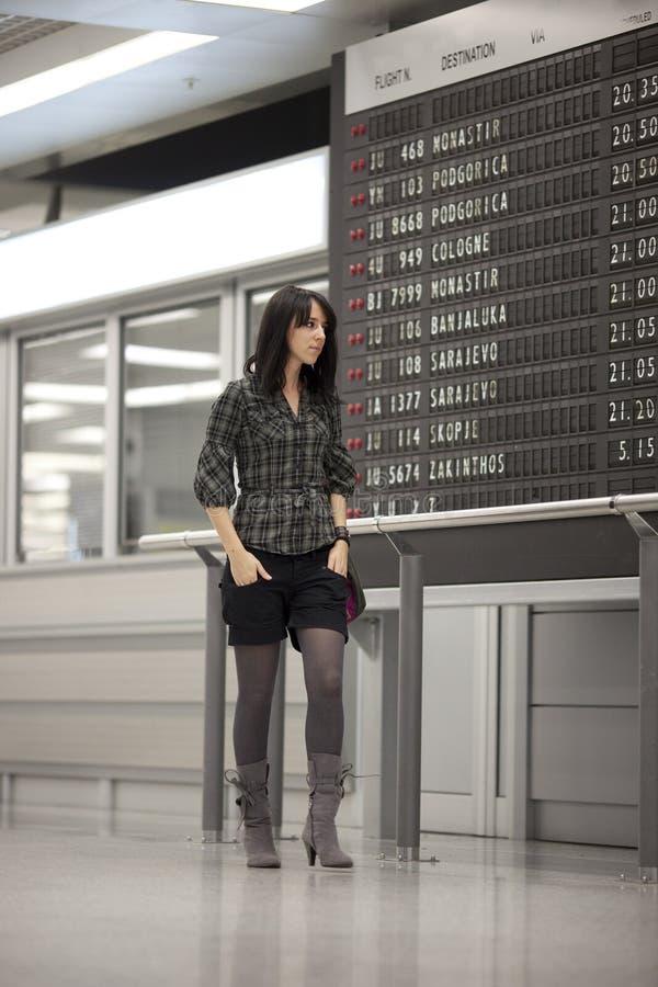 Het wachten bij luchthaven royalty-vrije stock foto
