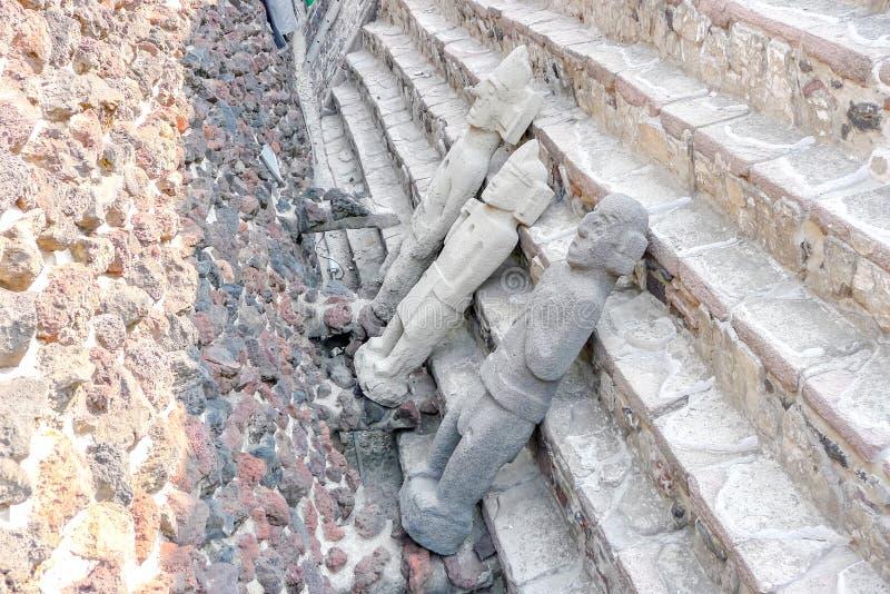 Het wachten om in Museo del Templo Burgemeester worden geclassificeerd stock fotografie