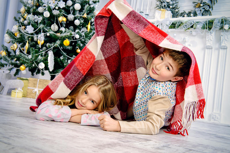 Het wachten op de Kerstman royalty-vrije stock fotografie