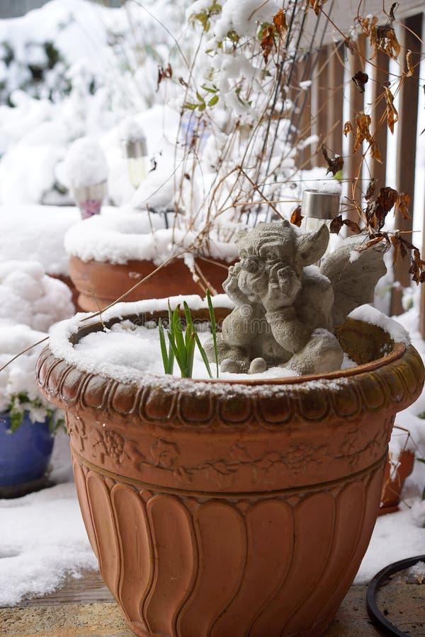Het wachten op de lente stock fotografie