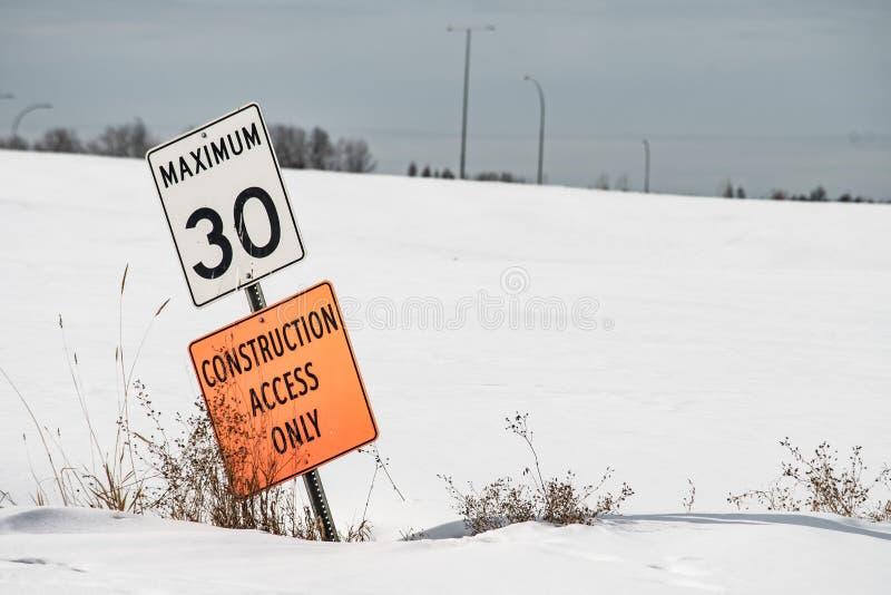 Het wachten op de sneeuw om te smelten royalty-vrije stock afbeeldingen
