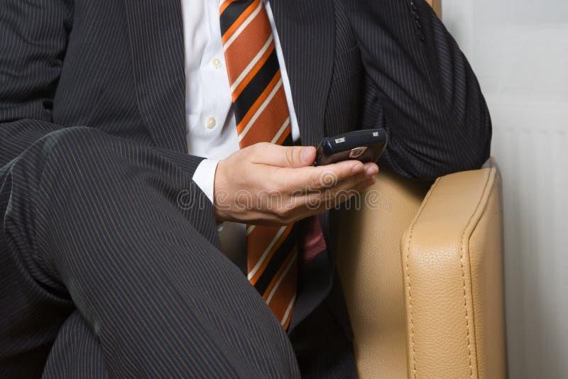 Het wachten op e-mail royalty-vrije stock afbeelding